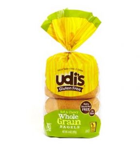 Low-Fodmap udi's whole grain bagels gluten free