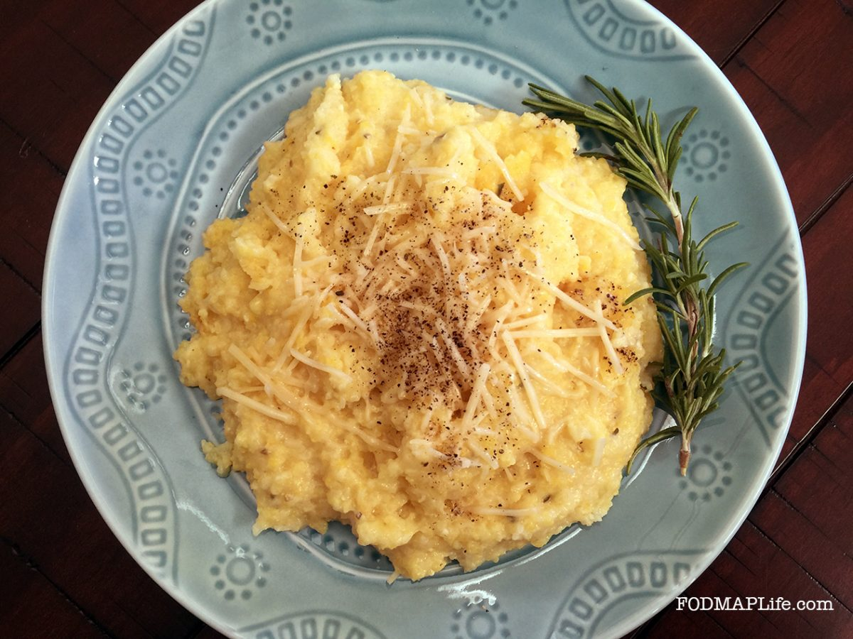 Low-FODMAP Holiday Side Dish: Creamy Rosemary Polenta