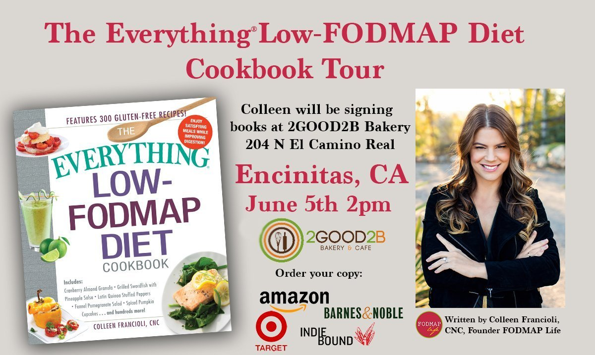 Low-FODMAP Book Signing in N. County San Diego