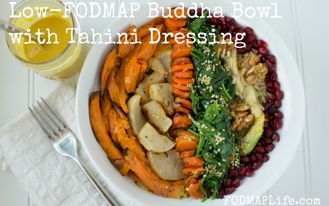 Low-FODMAP Buddha Bowls with Low-FODMAP Tahini Dressing