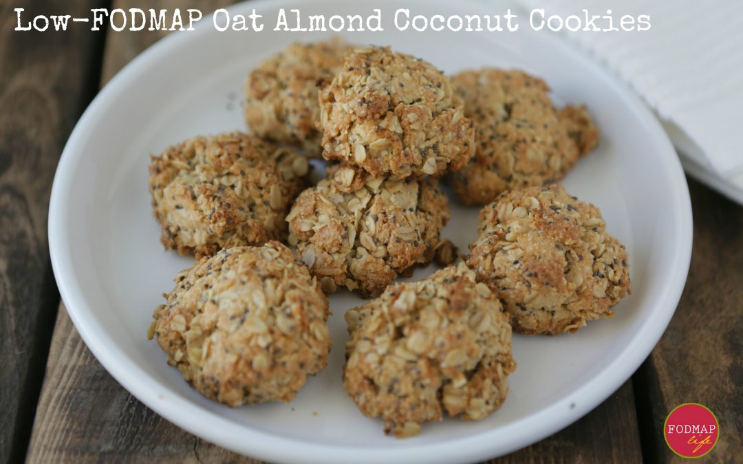 Low-FODMAP Oat Almond Coconut Cookies