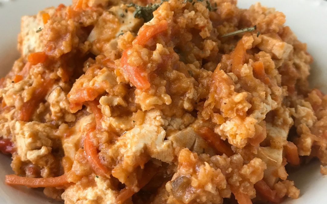 Slow Cooker Low-FODMAP Curry Tofu and Millet