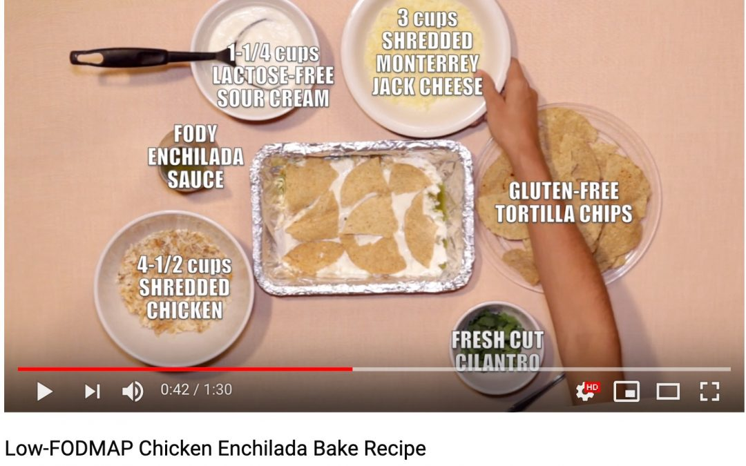 Low-FODMAP Chicken Enchilada Bake Recipe (Video)