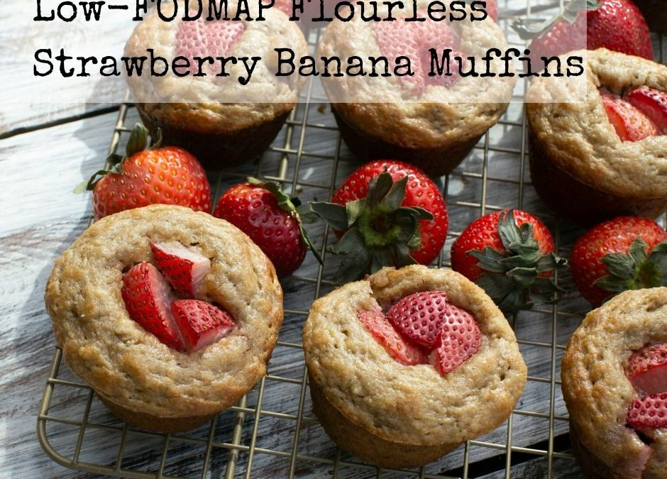 Flourless Low-FODMAP Strawberry Banana Muffins